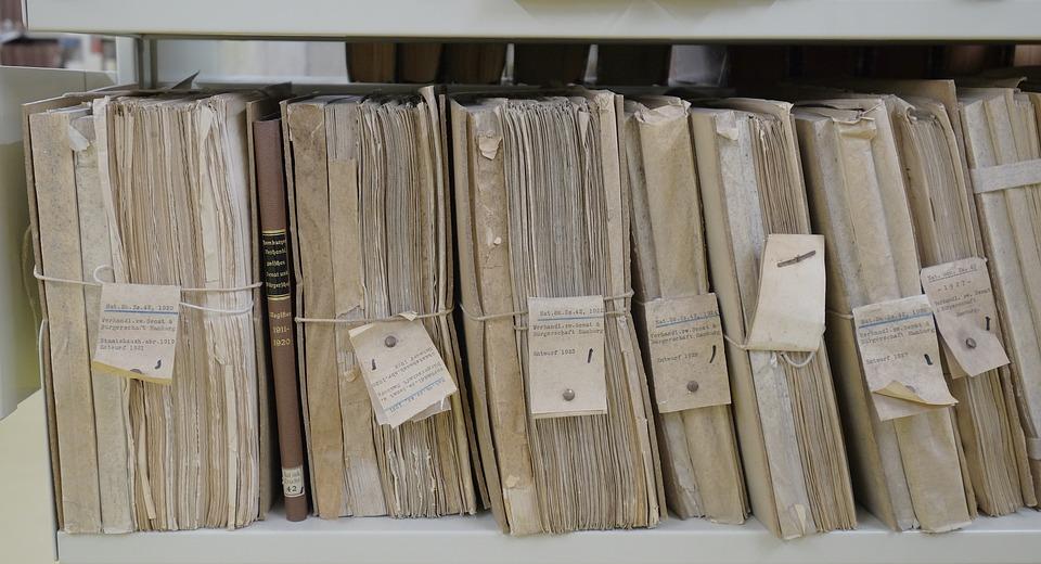 sorting paperwork